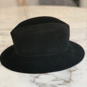 Albertus Swanepoel Kidd Felt Fedora Hat Black S